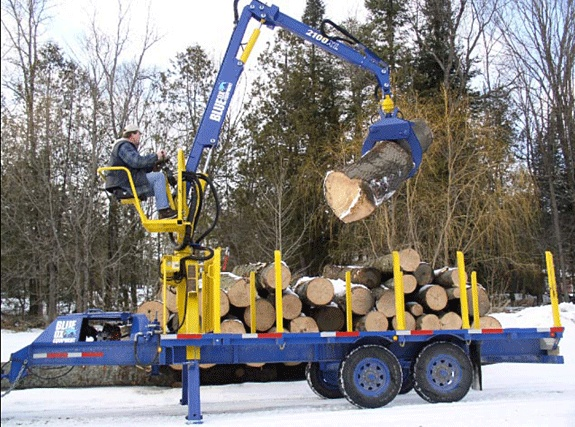 Blue ox loader LOGGING INDUSTRY Pinterest Ox and Blue