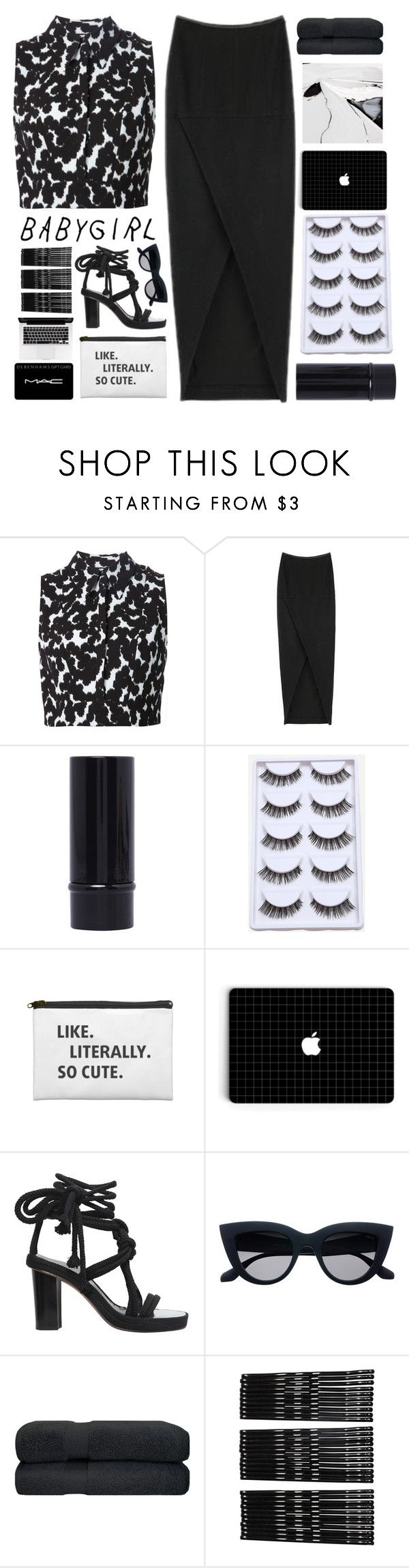 """""""Untitled #2575"""" by tacoxcat ❤ liked on Polyvore featuring A.L.C., Isabel Marant, Monki and MAC Cosmetics"""
