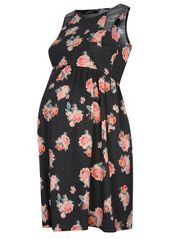 Floral Print Jersey Maternity Dress