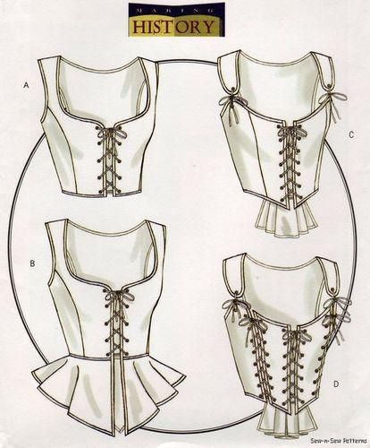 Butterick B4669 Uncut Pattern 14 20 Renaissance Medieval Corset Bustier Costume | eBay