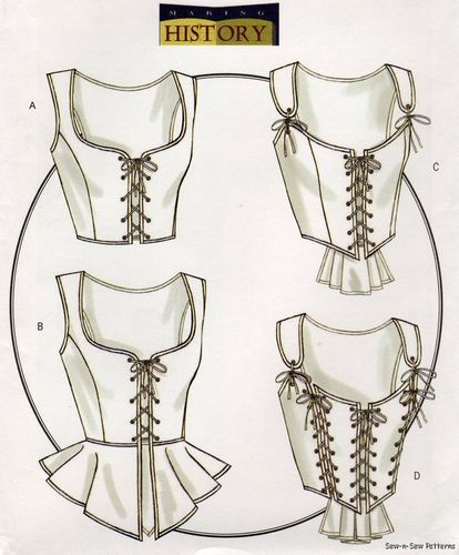 NEW Renaissance/Medieval Corset Bustier Costume PATTERN | eBay