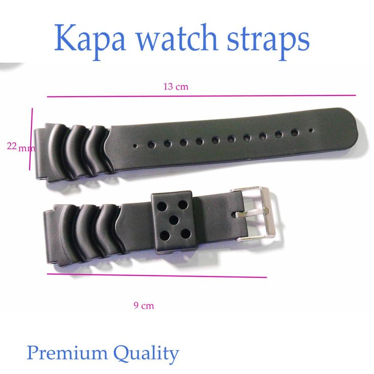 KAPA Mens Silicone Rubber Waterproof Divers Watch Strap Band PRO 24 mm  A6