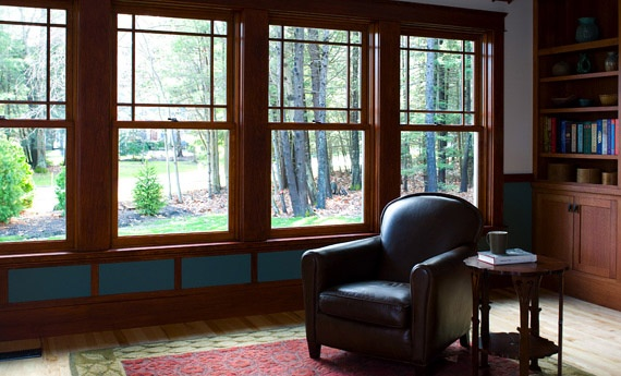 Andersen a series double hung windows with prairie a for Anderson window