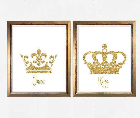 image regarding Printable King Crown titled King and Queen, Crown, King Crown, Queen Crown, Crown