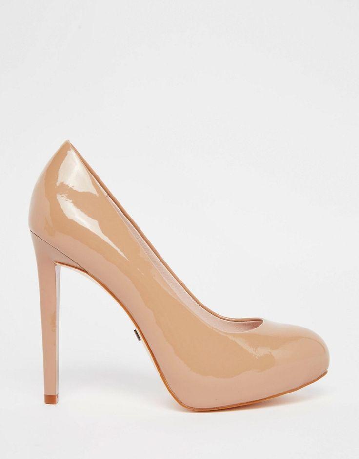 Image 2 ofFaith Wide Fit Cadles Nude Platform Court Shoes