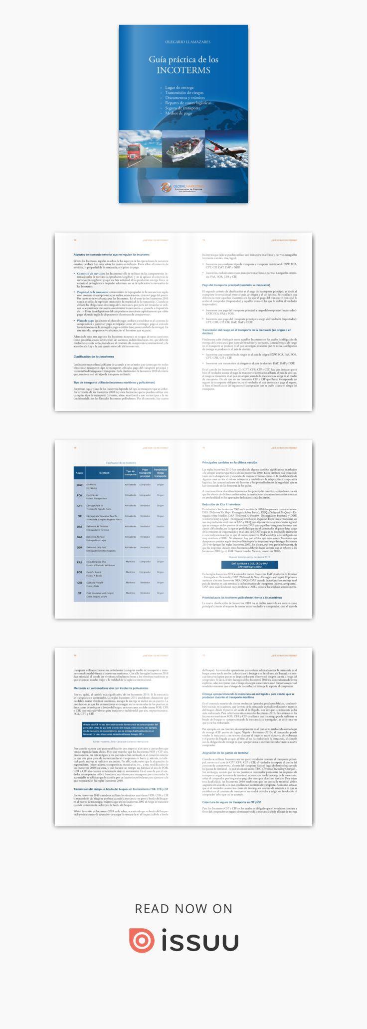 Guía práctica de los Incoterms 2010 - Global Marketing Para más información: http://www.globalnegotiator.com/tienda/guia-practica-de-los-incoterms-2010.html. Los Incoterms son unas reglas creadas por la Cámara de Comercio Internacional cuya finalidad es delimitar con precisión las obligaciones de vendedores (exportadores) y compradores (importadores) en una compraventa internacional. El objetivo de este eBook es proporcionar a los profesionales y empresas relacionados con el comercio…