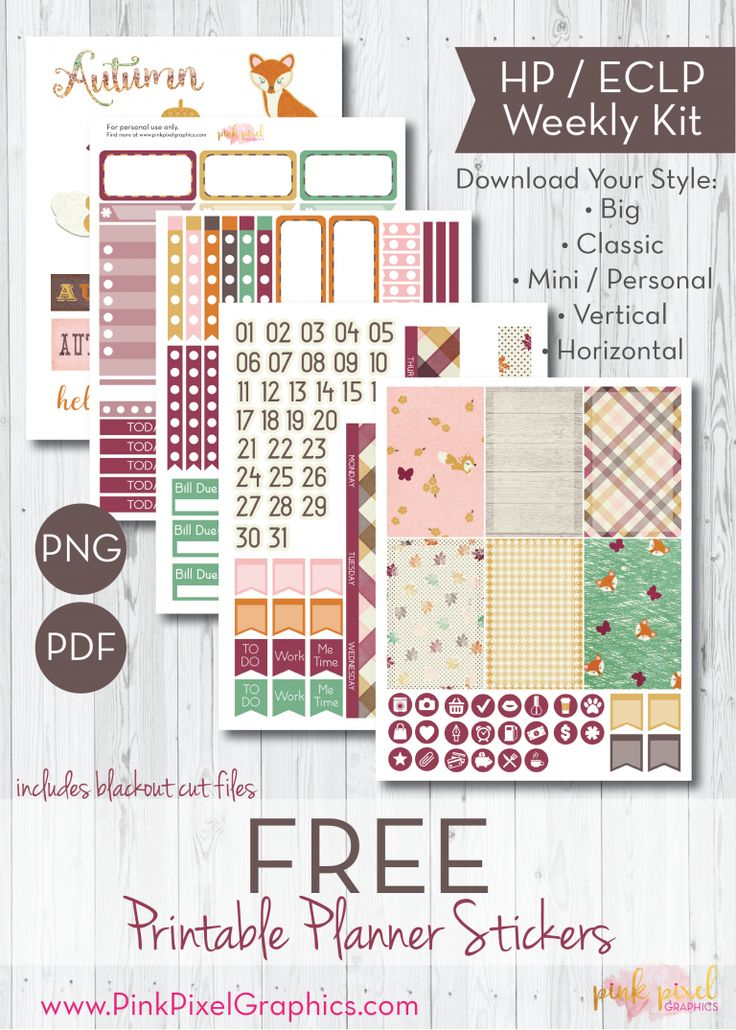 Free Printable Prepped for Autumn Planner Stickers. See more at www.pinkpixelgraphics.com {newsletter subscription required}