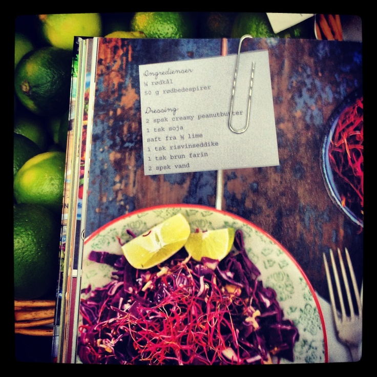 Rød og sprød: Ditte Ingemanns lækre rødkålssalat med rødbedespirer fra bogen SALATER FRA THE FOOD CLUB. Klik for flere opskrifter og et kig i bogen.
