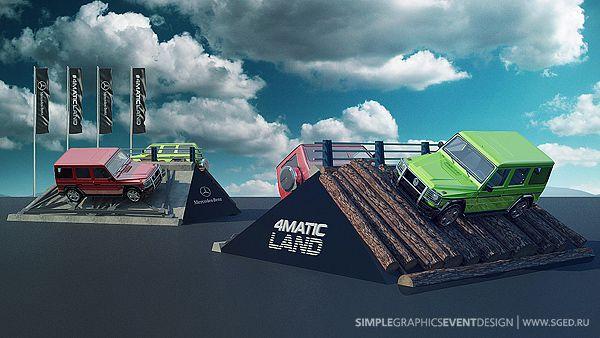Mercedes 4MATIC land on Behance