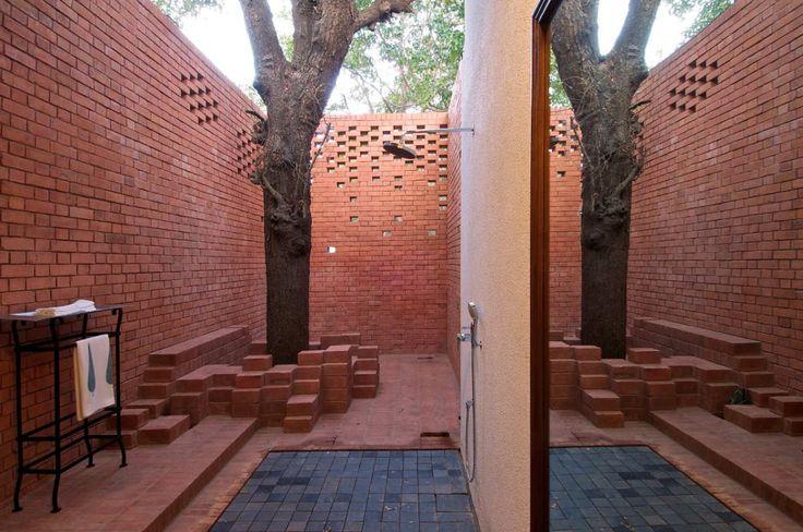 SPASMBathroom Design, Shower Design, House Design, Kiln House, Design Architects, Outdoor Shower, Rustic Bathroom, Bricks Kiln, Modern House