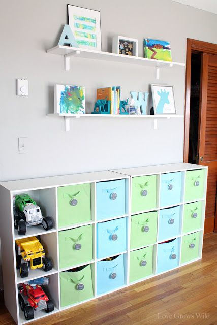 Kids Playroom Makeover with TONS of organizing ideas and DIY decor projects!