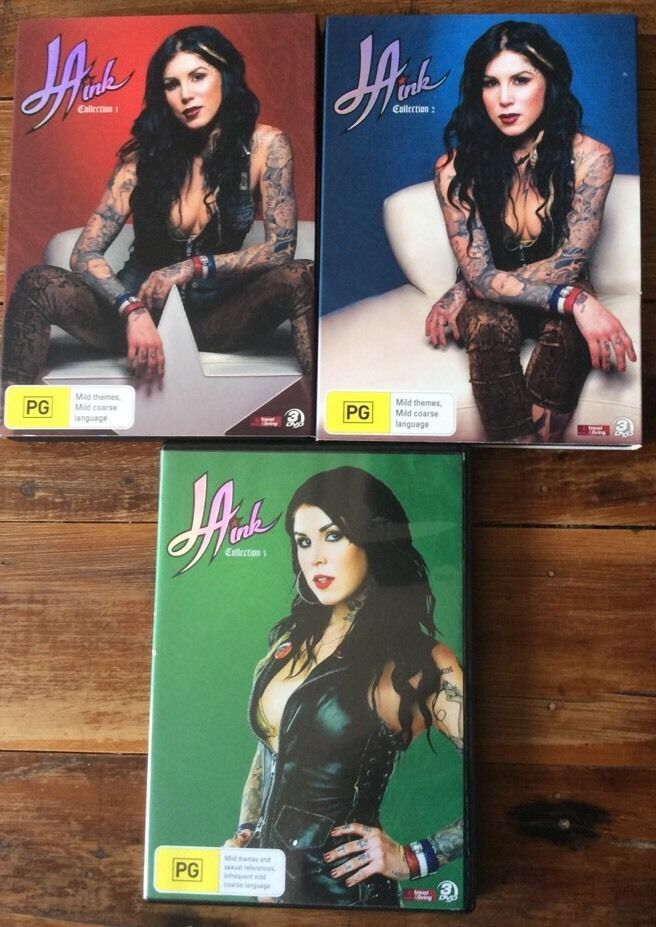 La Ink DVDs Set  Collection 1- 3 Kat Von D Tattoo La Ink Tattoo Pixie Mellow Kim