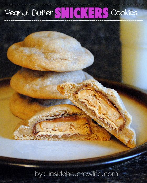 Peanut Butter Snickers Cookies | Inside BruCrew Life - peanut butter ...