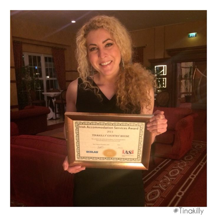 Tinakilly has just won a GOLD EXCELLENCE AWARD for our accommodation services standards. Congratulations to Bianca Muscalu and our fantastic housekeeping team @tinakilly_country_house_hotel #Tinakilly #GoldAward #IASI #Excellence #IrishAccomidationServices #Winning  #Congratulations#Delighted