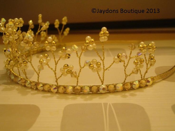 Dazzle - Golden Shadow, Swarovski Crystal Tiara x