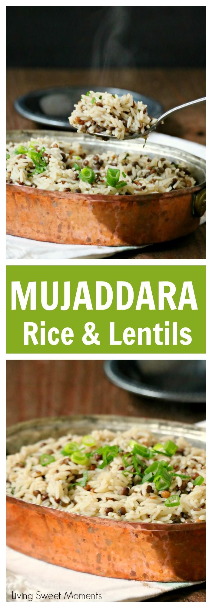 This delicious Mujaddara recipe is an entree made with rice, lentils and rich spices for an easy middle eastern dish that will wow your family for dinner. #ad #SaboreaTuVerano