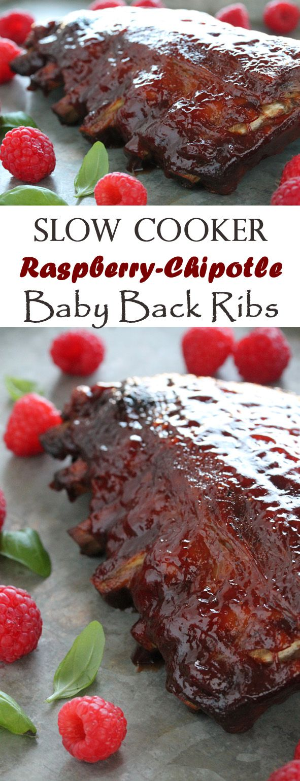Slow Cooker Raspberry-Chipotle Baby Back Ribs. 15 minutes of prep time is all you need to enjoy delicious, finger-licking, fall-off-the-bone ribs in this summertime favorite.