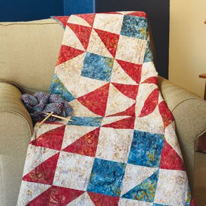 Letters from Home: Quick & Patriotic Quilt Pattern McCall's Quick Quilts June July 2017