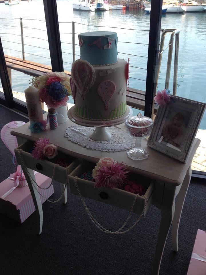 Hot Air Balloon themed Cake table