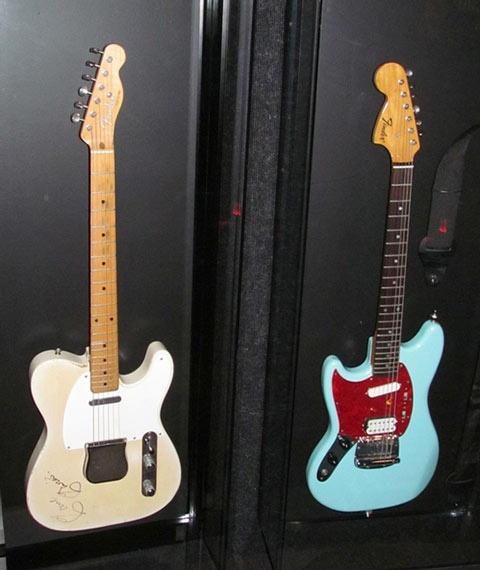 Ray Davies' Fender Telecaster and Kurt Cobain's Fender Jaguar
