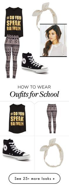 """""""Every day middle school outfit"""" by konahmassah on Polyvore featuring Balmain, Converse and Carole"""