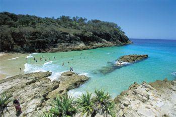 South Gorge Beach, North Stradbroke Island, Australia.