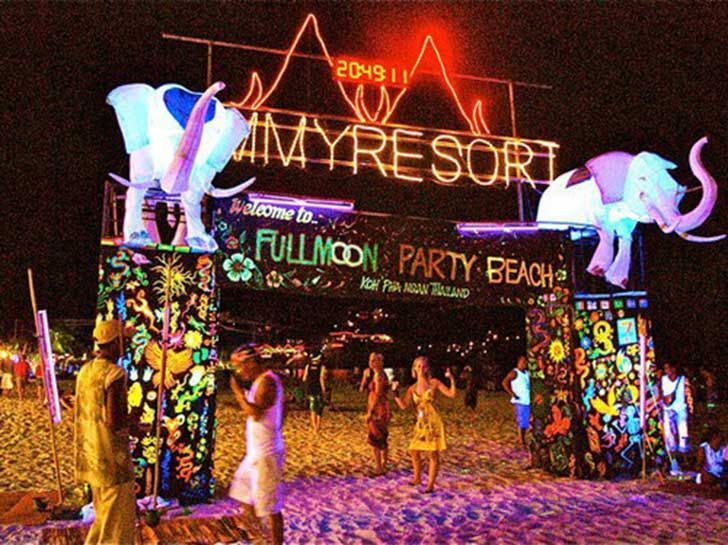 Full moon party, Thai. Young travellers gather every month on a beach in Koh Phangan, a remote Thai island and dance the night away in front of a strip of bars and clubs pumping out dance music. It is an all night party, so dance the night away until the sun comes up on the eponymous sunrise beach. Hundreds of thousands travelers over the past 25 years claim it's the best party they've ever been to.