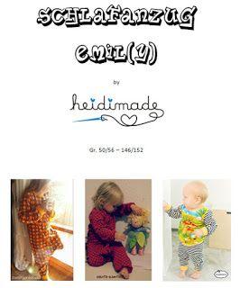 Freebook Emily - Schlafanzug Einteiler oder Zweiteiler 50 -- 152