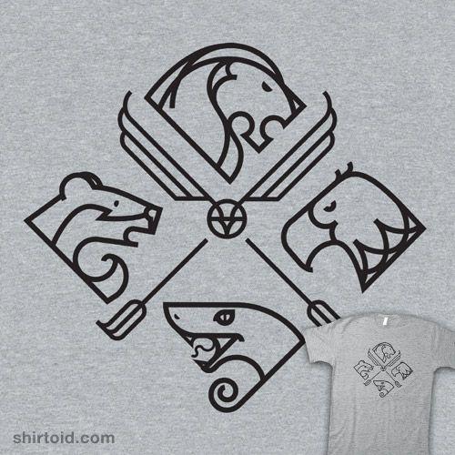 Minimal Hogwarts. I would wear that shirt 100%