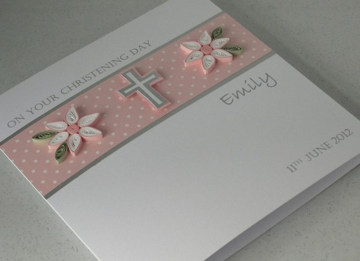 Handmade+Christening+card+personalized+by+PaperDaisyCardDesign,+£6.20