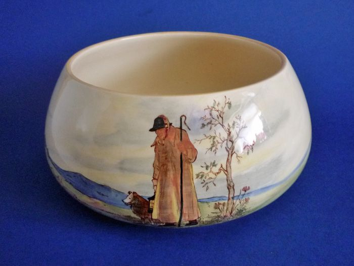 Large Royal Doulton 'Cotswold Shepherd' Series Bulb Bowl D5561 c1935