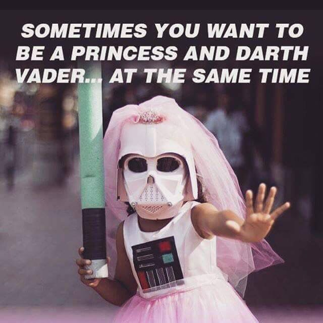 Sometimes you want to be a pricess an darth vader...