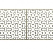 Pattern Library | Bok Modern C25 railing, fences gates, metal panels bokmodern architecture wallscreens greenscreens, architectural metal systems, laser cut metal, guardrails, sunshade, canopies, sun screens, juliet balconies, rainscreen