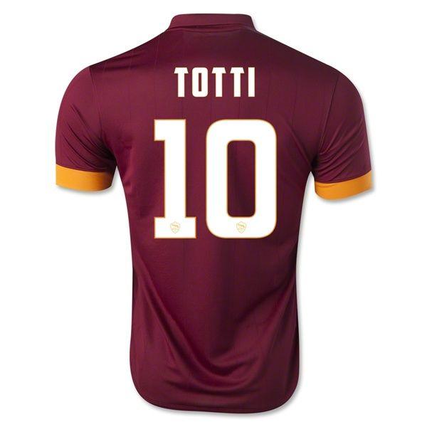 d224e3451 roma 10 francesco totti red home short sleeve mens adults 2016 2017 ...