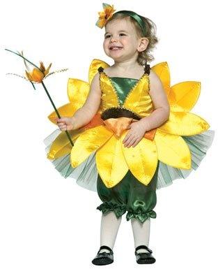 sunflower flower girls halloween costume dress up pink dress wand headband new - Sundrop Halloween Costume