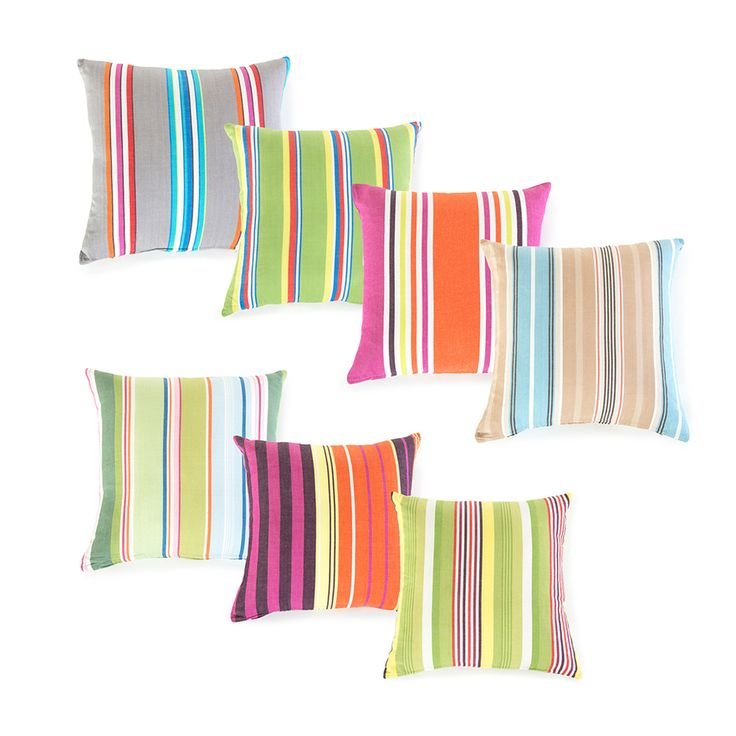 Reef Stripe Cushions from Pillow Talk. Lots to choose from. All at $14.95  Great for outdoor, guest room (need 2) or kid bed (need 1)