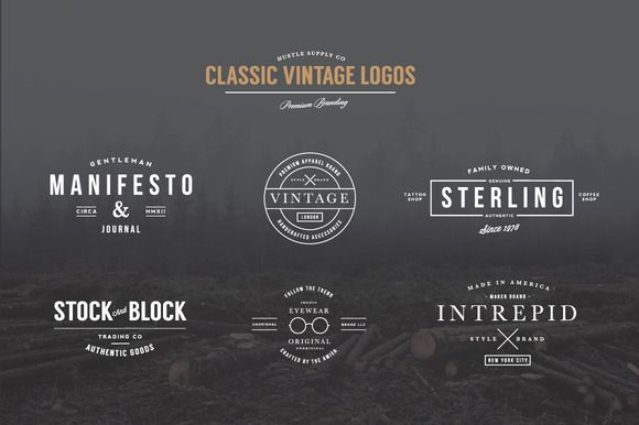 Classic Vintage Logos by Hustle Supply Co. on Creative Market