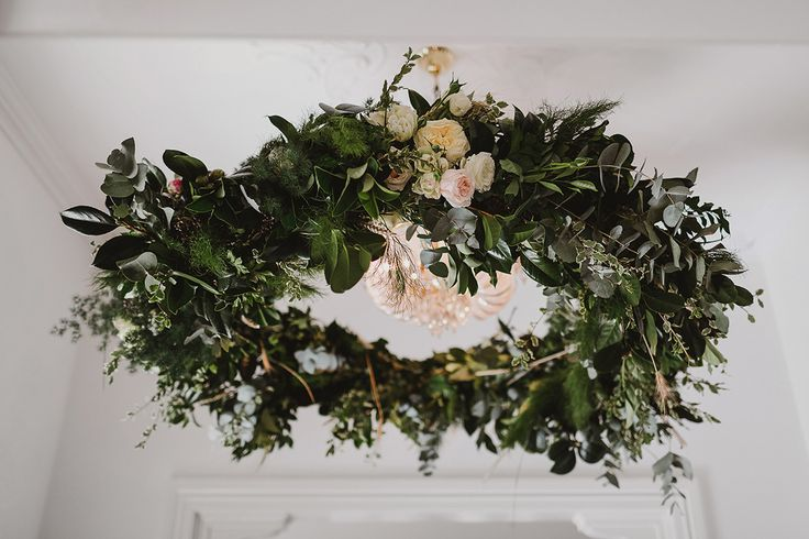 Our wedding by Gardenbird Flowers Brisbane |  Hanging Wreath | Photo © Janneke Storm