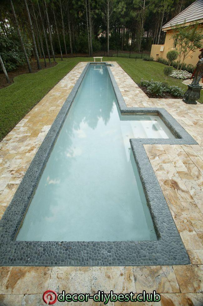 Benefits Of A Swimming Pool Small Backyard Pools Pool Landscaping Pool Designs Benefits Of A Swi In 2020 Lap Pools Backyard Lap Pool Designs Small Backyard Pools