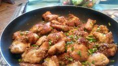 Frango com gergelim(sésamo) e molho asiático / Chicken with sesame and Asian…