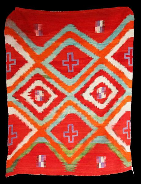 Navajo Transitional Blanket with Spiderwoman. Important Navajo blankets for sale on CuratorsEye.com
