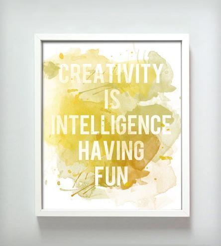 Creativity Print - Great idea for studio or craft room printable