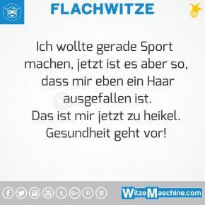 Flachwitze #327 - Sportwitze - Ausreden