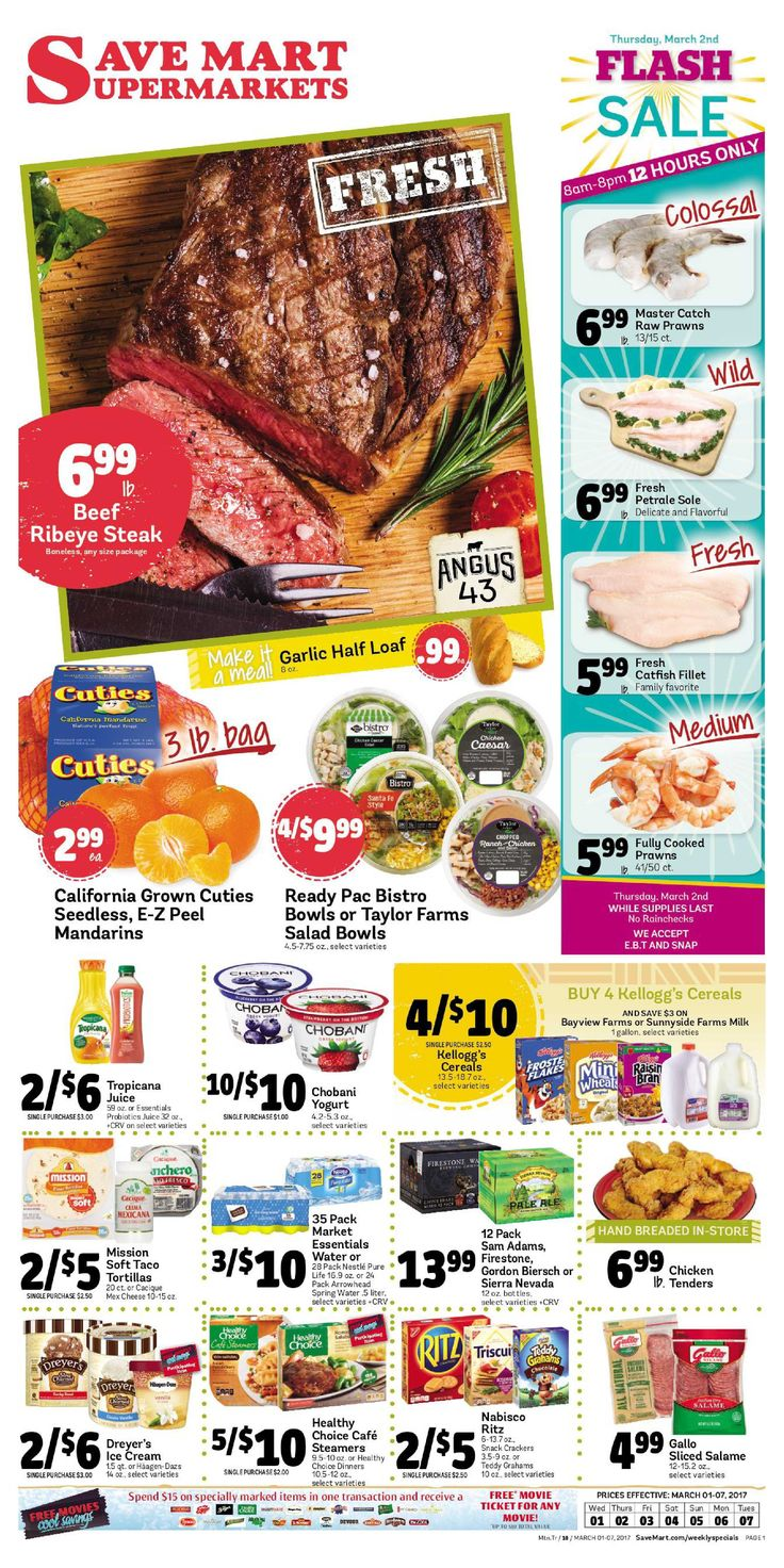 Save Mart Weekly ad March 1 - 7, 2017 - http://www.olcatalog.com/save-mart/save-mart-weekly-ad.html