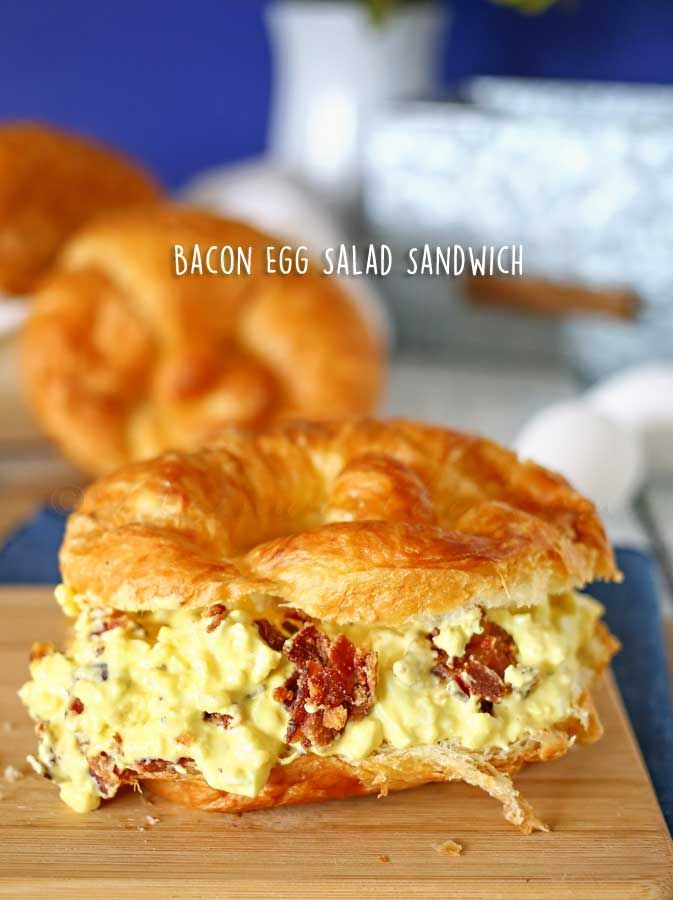 Bacon Egg Salad Sandwich - delicious twist on a the classic egg salad. on kleinworthco.com