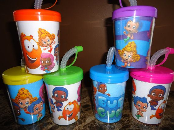 Bubble guppies cups drinking cups party favors by sassycreationz birthday ideas - Bubble guppies party favors ideas ...