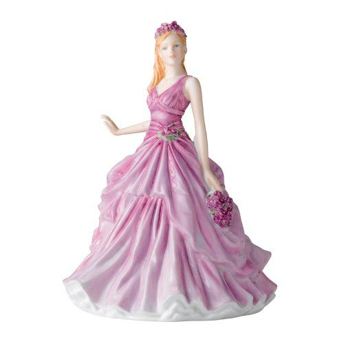 February Violet ~ Royal Doulton Flower of the Month Figurine