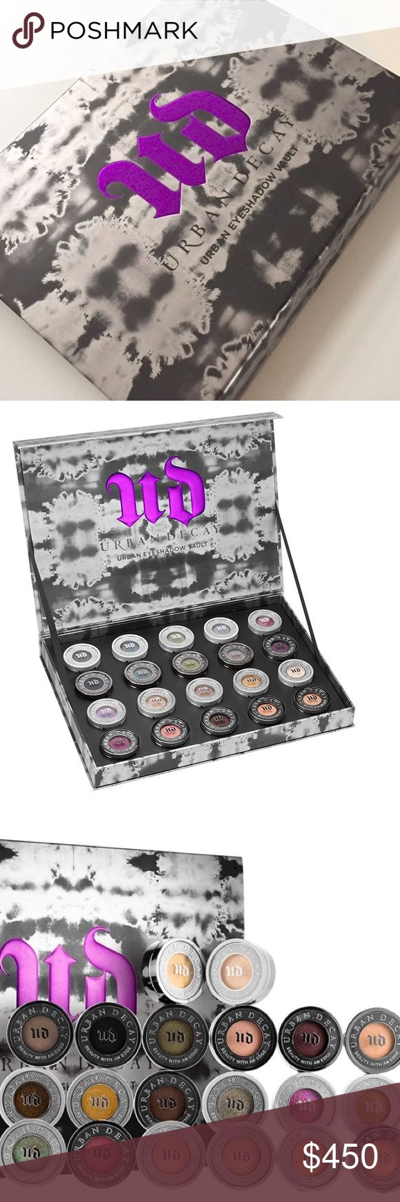 Urban Decay Moondust Eyeshadow Vault BNIB BNIB Urban Decay Eyeshadow Vault! Sold out everywhere! Vault includes: - Moondust Eyeshadow in Scorpio, Zodiac, Vortex, Moonspoon, Shockwave, Solstice, Space Cowboy, Dark Force, Interstellar and Cosmic. - Eyeshadow in Blackout, Lounge, Mildew, Mushroom, Rockstar, Last Call, Scratch, Busted, X and Sellout.                                                           Selling only as set OR $15 each. If buying multiples I can bundle for a better deal. Free…