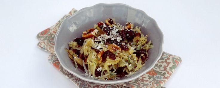 Clinton's Roasted Spaghetti Squash w/ Craisins, Pecans & Herbs