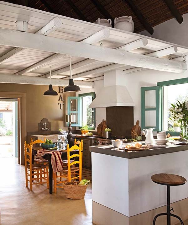 Colorful Andalusian Farmhouse Nestled In A Spanish Olive Grove